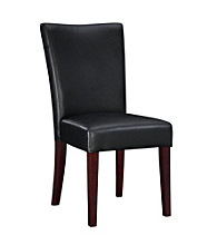 Powell® Bonded Leather Parsons Chair - Black