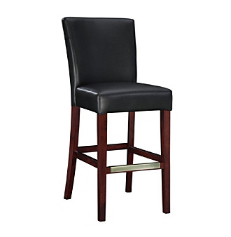 Powell® Bonded Leather Bar Stool - Black