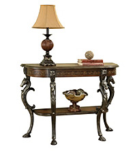 Powell® Masterpiece Floral Demilune Console Table