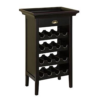 Powell® Wine Cabinet - Black/Merlot