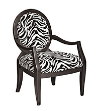 Powell® Oval Back Accent Chair - Zebra