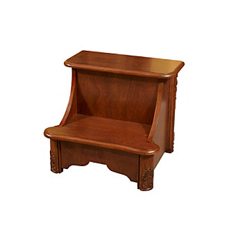 Powell Woodbury Mahogany Bedroom Storage Step Stool Bon Ton