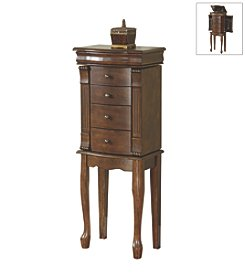 Powell® Louis Philippe Walnut Jewelry Armoire