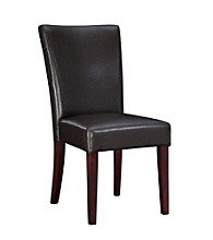 Powell® Bonded Leather Parsons Chair - Brown