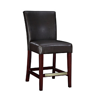 Powell� Bonded Leather Counter Stool - Brown