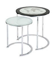 Powell® World Map Nesting Tables Set