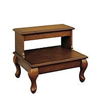 Powell® Attic Cherry Bedroom Drawer Step Stool