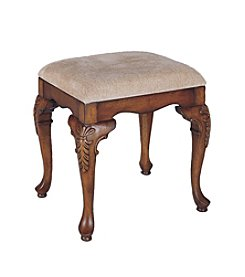 Powell® Jamestown Landing Bench - Deep Cherry/Beige