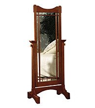 Powell® Cheval Mirror - Mission Oak