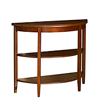 Powell® Demi-lune Console Table - Shelburne Cherry