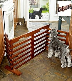 Merry Products™ Walnut Wooden Pet Gate-n-Crate