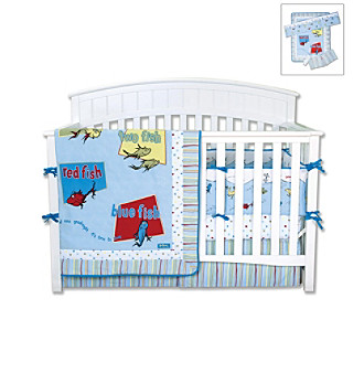 "Trend Lab Dr. Seuss ""One Fish, Two Fish"" 4-pc. Crib Bedding Set"
