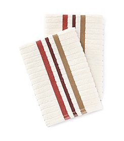Croscill® Taylor 2-pk. Red & Brown Striped Dish Cloths