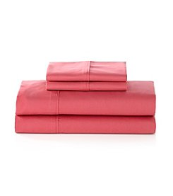 Elite Home Products Oversized 250-Thread Count Cotton Percale Sheet Sets