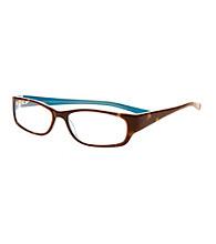 Café Readers® Reading Glasses - Teal Tortoise