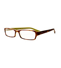 Café Readers® Reading Glasses - Lime Tortoise