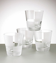 Nautica® Set of 4 Frost Block Double Old Fashioned
