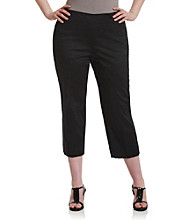 Jones New York Signature® Plus Size Slim Capri Pants - Black