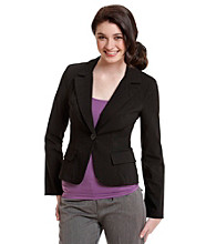 XOXO® Juniors' One-Button Blazer Jacket - Black