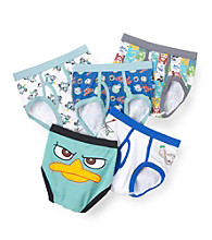 Disney® Boys' 4-8 White/Blue 5-pk. Phineas and Ferb Briefs