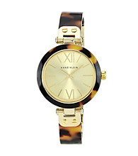 Anne Klein® Tortoise Resin Bangle Watch