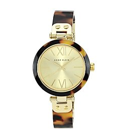 Anne Klein® Women's Tortoise Resin Bangle Watch