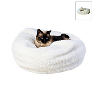 Carolina Pet Company Sherpa Puff Ball Pet Bed