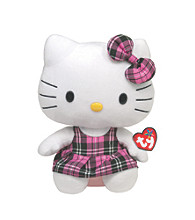 Ty® Pink Plaid Hello Kitty Beanie Buddy