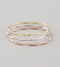 18k Rose Gold-Over-Sterling Silver Color Plated Bangle Bracelet