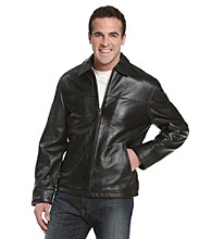Chaps® Men's Lambskin Leather Car Coat