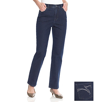 Gloria Vanderbilt® Amanda Sparkle Back Pocket Denim Jeans