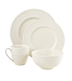 kate spade new york® Fair Harbor White Truffle 4-pc. Place Setting