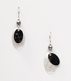 Silver Forest® Two Layer Oval Earrings