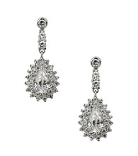 Nina® Naila Cubic Zirconia & Genuine Crystal Teardrop Earrings