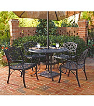 Home Styles® Largo Round Black Outdoor Dining Furniture Collection
