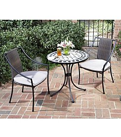 Home Styles® Black & Gray Bistro Table with Laguna Arm Chairs