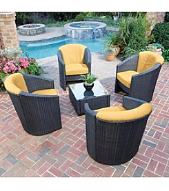 Home Styles® Scottsdale Harvest Wicker Outdoor Barrel Accent Chair