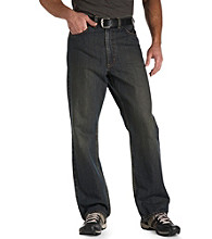 True Nation® Men's Big & Tall Tinted Relaxed Fit Jeans - Brown