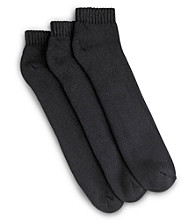 Harbor Bay® Men's Big & Tall 3-pk Continuous Comfort™ Low Cut Socks