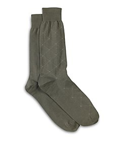 Harbor Bay® Men's Big & Tall Diamond Dot Socks