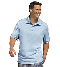 Harbor Bay® Men's Big & Tall Tipped Jersey Polo