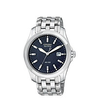 Citizen® Men's Eco-Drive Stainless Steel Watch with Blue Dial