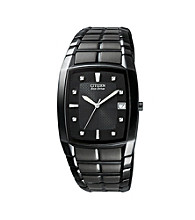 Citizen® Men's Eco-Drive Stainless Black Ion-Plated Watch