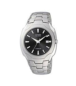 Citizen® Men's Eco-Drive Titanium Watch with Black Dial