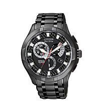 Citizen® Men's Eco-Drive Calibre 8700 Black Ion-Plated Watch