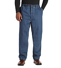 Harbor Bay® Men's Big & Tall Elastic-Waist Denim Jeans