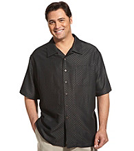Island Passport® Men's Big & Tall Tonal Camp Shirt