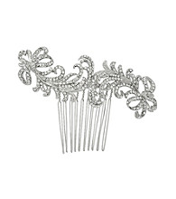 Nina Bridal Caleigh Swarovski® & Glass Crystal Hair Comb - Antique Silver