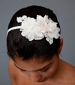 Nina Bridal Danica Floral Headband - Ivory