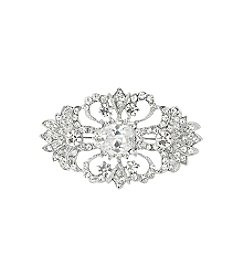 Nina Bridal Jaquelen Swarovski® & Genuine Crystal Hair Comb - Antique Silver